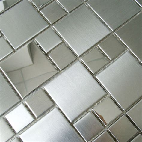 Bathroom Mosaic Mirror Tiles by Mosaic Tile Mirror Sheets Square Brushed 304 Stainless
