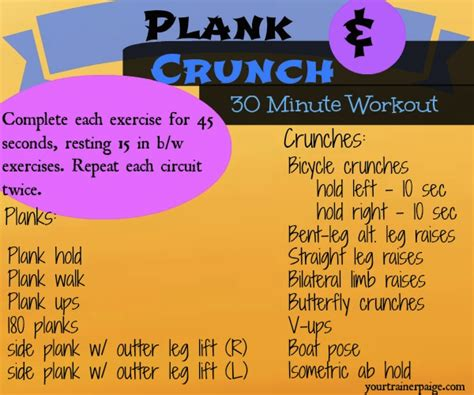 plank crunch  minute workout coconut shelled banana