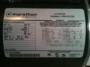 hi, i just bought a Marathon Electric AC motor, HP: 1/4 V ...