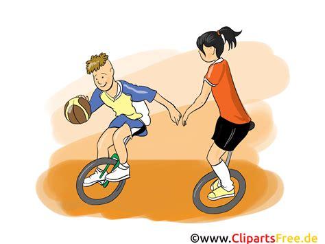 fahrrad basketball clipart bild cartoon comic illustration