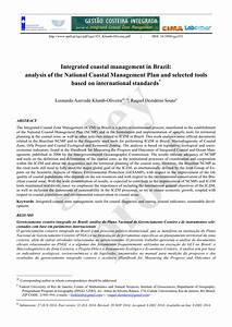 (PDF) Integrated coastal management in Brazil: Analysis of ...