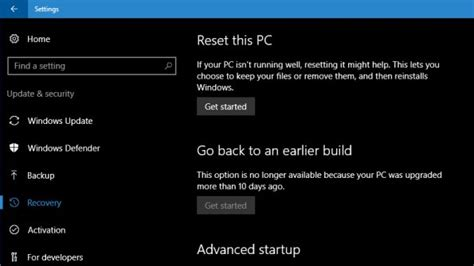 windows 10 anniversary update gives you 10 days to roll back to earlier build liliputing