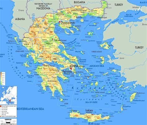 landkarte griechische inseln karte der griechischen