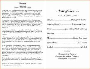 4 funeral program sample teknoswitch With funeral biography template
