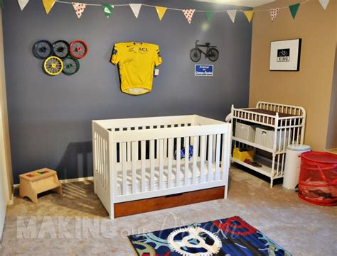 Bicycle Themed Boy's Nursery Inspired By Le Tour De France