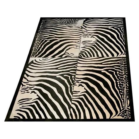 tapis vache imprime zebre