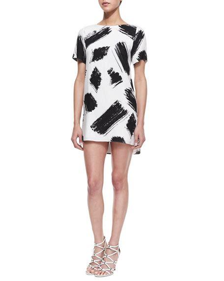 Phebe Closet by Phebe Paintbrush Print Shift Dress