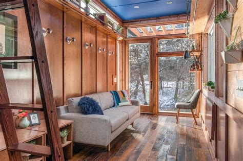 The Best Home Decor For Small Spaces: New Frontier's Cornelia Tiny Home Is A Writer's Studio