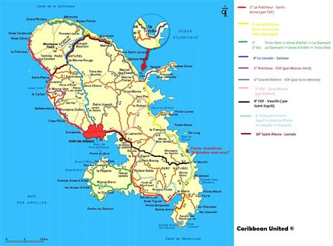 Carte Du Monde Martinique by Carte De La Martinique D 233 Couvrir Les Villes Le Relief