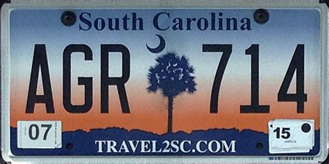 Vanity Plates Sc by South Carolina 3 Y2k