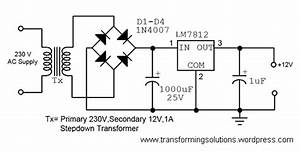 A Simple 12 Volt Dc Power Supply Circuit Diagram