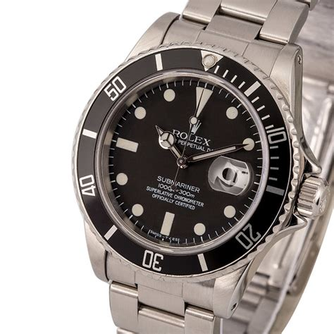 Buy Used Rolex Submariner 16800 | Bob's Watches - Sku: 123836