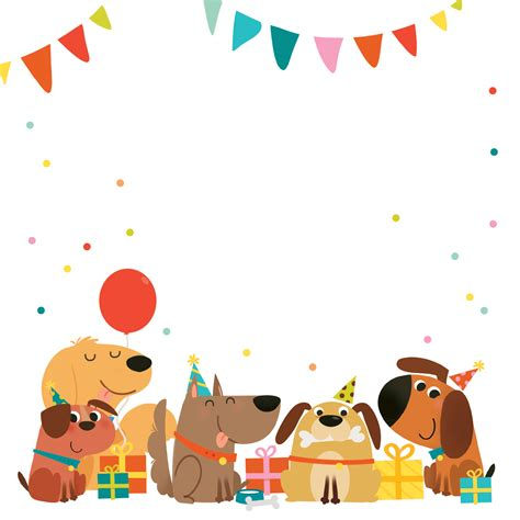 Delighted Dogs Free Birthday Invitation Template