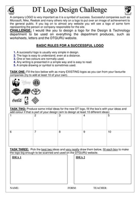 Logo Design Worksheet By Rbond  Teaching Resources Tes