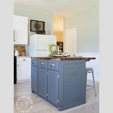 Painting The Island  Diy Kitchen Island Makeover Part 2