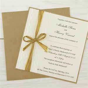 rustic lace layered square pure invitation wedding invites With rustic african wedding invitations