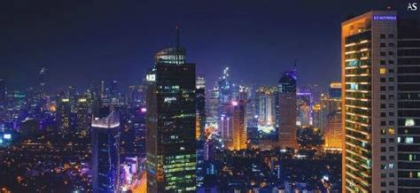 jakarta city lights view picture  cloud lounge