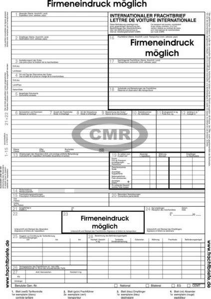 cmr frachtbrief  formulare
