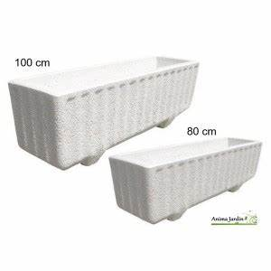 Jardiniere Plastique Gros Volume : jardini re blanche bogart en marbre reconstitu 80 cm 1 ~ Dailycaller-alerts.com Idées de Décoration