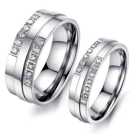 customized affordable titanium wedding bands  men
