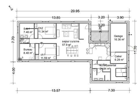 plan de maison 5 chambres plain pied gratuit plan maison plain pied en u gratuit ventana