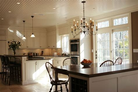 white kitchen  beadboard ceilings beadboard ceiling