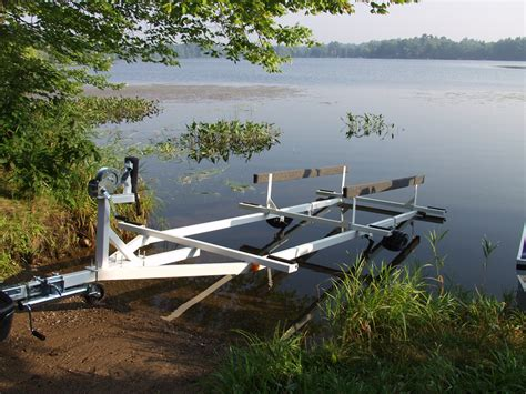Pontoon Boat Without Trailer by Pontoon Trailers Pontoon Boat Trailers For Sale In Wisconsin