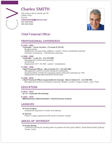 chronological order curriculum vitae chronological cv template