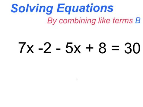 Solving Equations With Like Terms Tessshebaylo