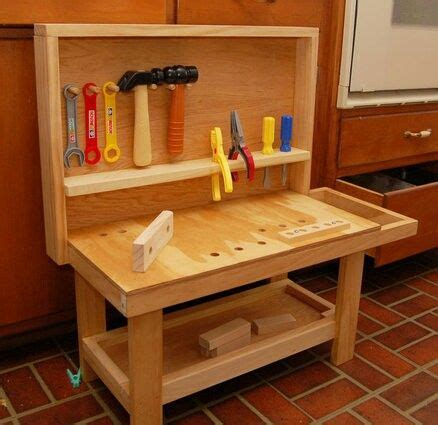 Boys Work Bench - more complex diy toddler workbench for awesome