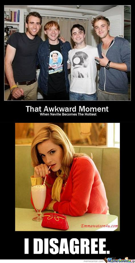 Neville Longbottom Meme - that awkward moment when neville becomes the hottest www pixshark com images galleries with