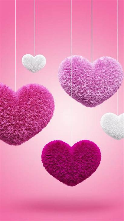 Mobile Hearts Wallpapers Pink Heart Fluffy Phone