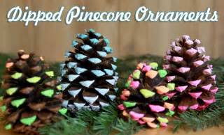 dipped pine cone ornaments craft