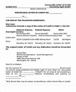 81 sample letters With irrevocable letter of credit template