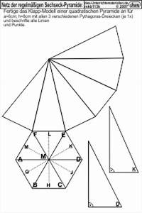 Quadratische Pyramide A Berechnen : mkb113 netz der regelm igen sechseck pyramide ~ Themetempest.com Abrechnung