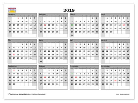 calendar british columbia canada michel zbinden en