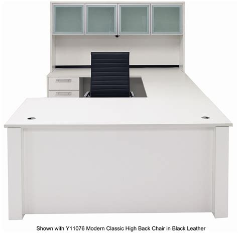 white executive office desk adjustable height u shaped executive office desk w hutch
