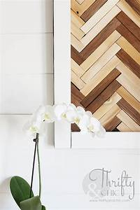 herringbone pattern wall art using wood shims hometalk With what kind of paint to use on kitchen cabinets for hydrangea canvas wall art