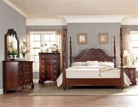 homelegance guilford tall poster bedroom set brown