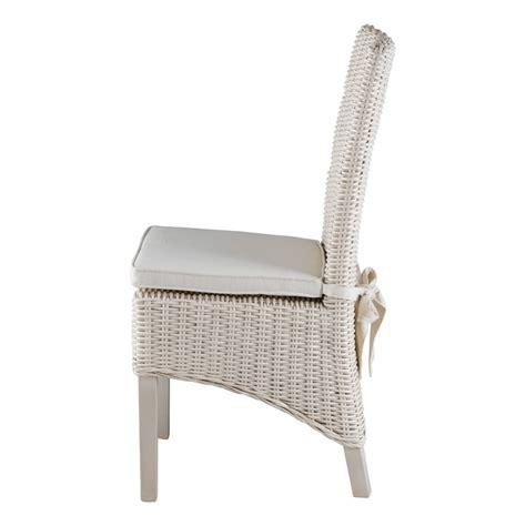 chaise en kubu tressé chaise en demi kubu blanc lot de 2 zago store