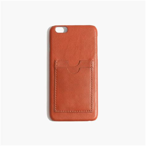 leather iphone cases madewell leather carryall for iphone 174 6 plus in brown