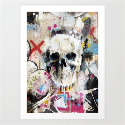 Skull Art Print Famouswhendead Society