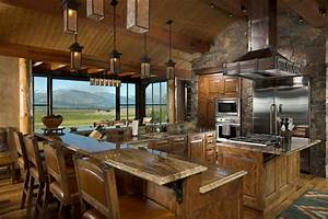 Rocky Mountain Log Homes -Timber Frames - Rustic - Kitchen