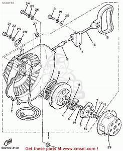 Yamaha Br250k Bravo 1985  1986 Starter