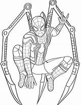 Coloring Pages Spider Spiderman Iron sketch template