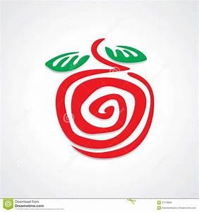 Apple Diagram Vektor Illustrationer  Illustration Av