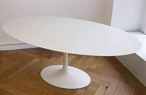 Table Pied Tulipe : saarinen table tulipe ovale marbre knoll lausanne suisse ~ Teatrodelosmanantiales.com Idées de Décoration