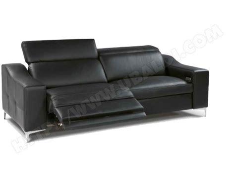 canap 233 cuir divani form oscar 3 places 2relax 233 lectriques cuir noir pas cher ubaldi