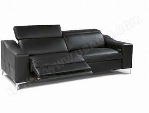 canape cuir divani form oscar 3 places 2relax electriques With tapis de marche avec canape blanc relax