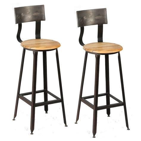 alinea chaise de bar finest chaise de bar en acacia source tabourets de bar en bois et metal avec dossier moins